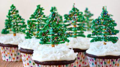 Bánh giáng sinh - cây thông noel cupcake