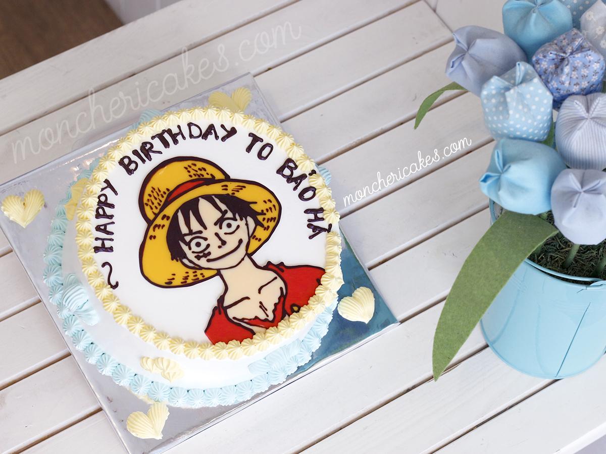 Bánh kem Luffy One Piece