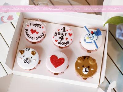 Bánh cupcake gấu và máy bay cho bé