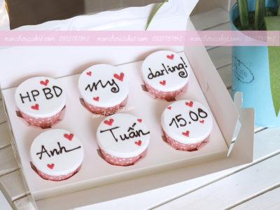 Bánh cupcake viết chữ đơn giản mà ý nghĩa